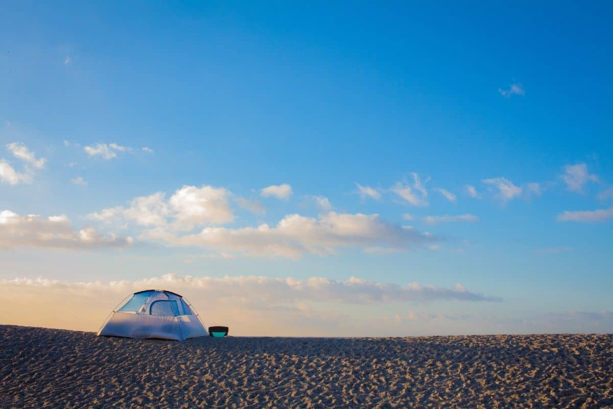 camping in california on the beach