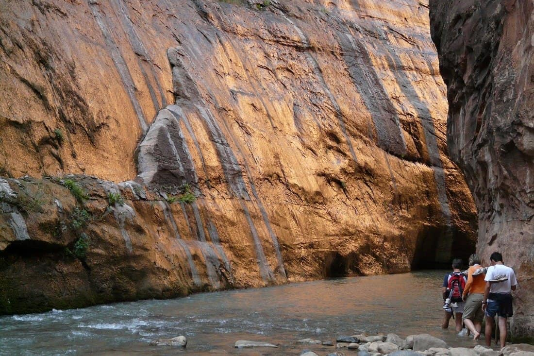 swimming in zion national park